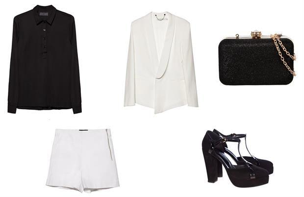 En los zapatos de... Michelle Williams  Camisa (Deleon, $1120) Short (Nous Etudions, $980) Clutch (Brandy, $459) Blazer (Maria Cher, $4800) Zapatos (De María, $3300).