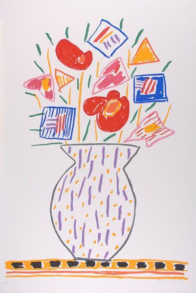 Ken DONE Striped Vase, 1990