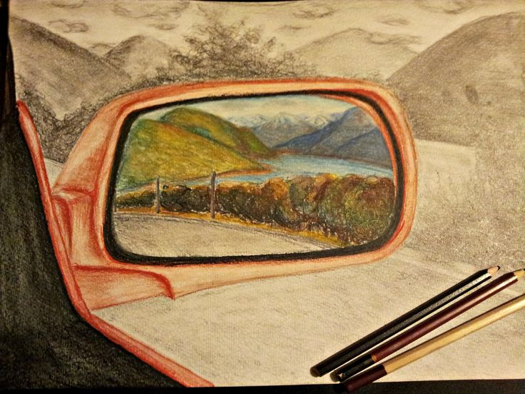 Landscapes on our way home #Watercolour #Pencil