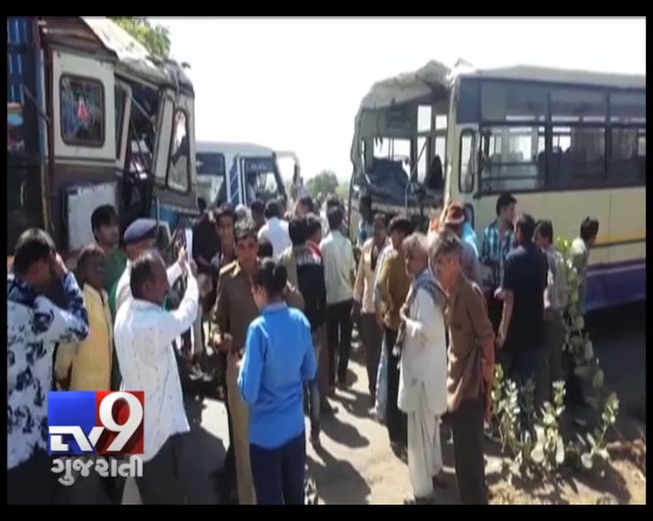 In an another Gujarat ST bus accident at Mankuva in Bhuj district, 14 people have been injured. The Naliya-Ahmedabad bound bus crashed into a truck. The injured have been shifted to GK Adani hospital in Bhuj.   Subscribe to Tv9 Gujarati https://www.youtube.com/tv9gujarati Like us on Facebook at https://www.facebook.com/tv9gujarati Follow us on Twitter at https://twitter.com/Tv9Gujarati Follow us on Dailymotion at http://www.dailymotion.com/GujaratTV9
