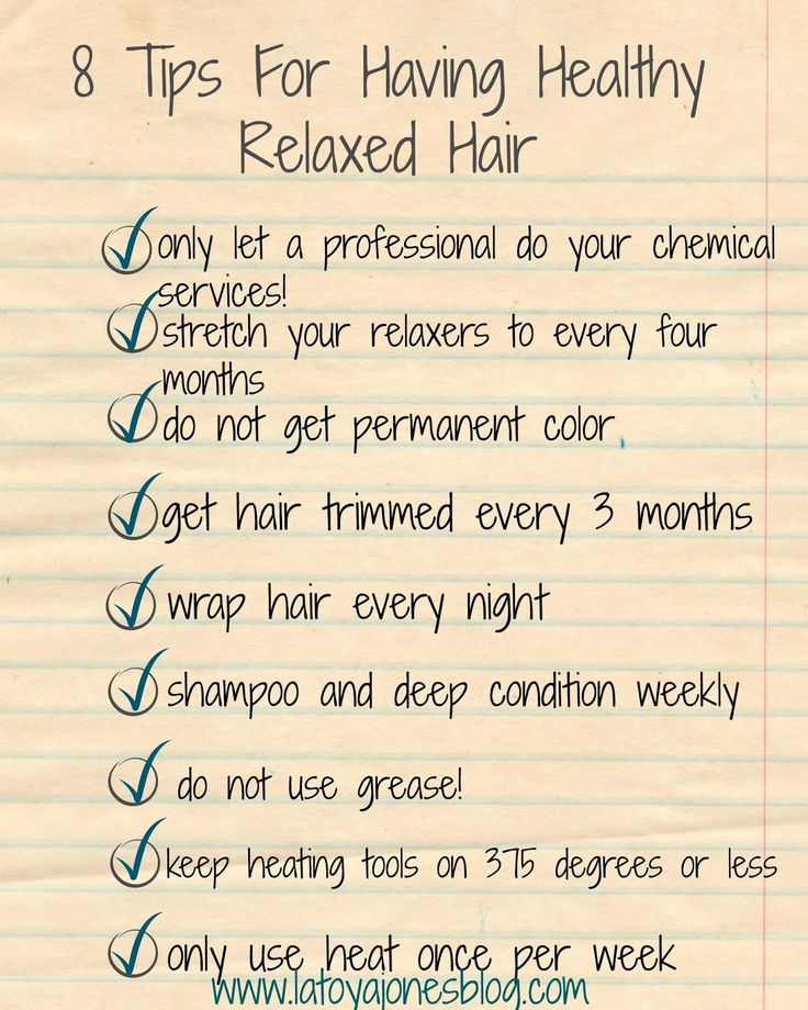 8 tips for having healthy, relaxed hair      So, you want to know how in the world you can have a relaxer yet still keep your hair healthy...