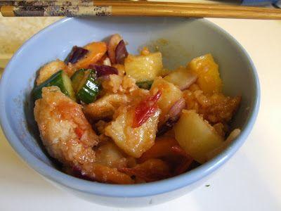 Discovering Mandarin: Sweet and Sour Chicken & Rice / Ku Lou Yok / 甜酸鸡 : Recipe