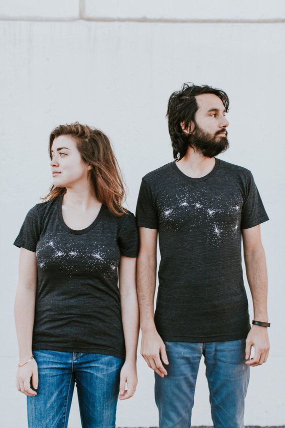Big Dipper Little Dipper t shirt set, graphic tees, Valentine's Day shirts, matching shirts, couples shirts, astronomy gift, honeymoon tees
