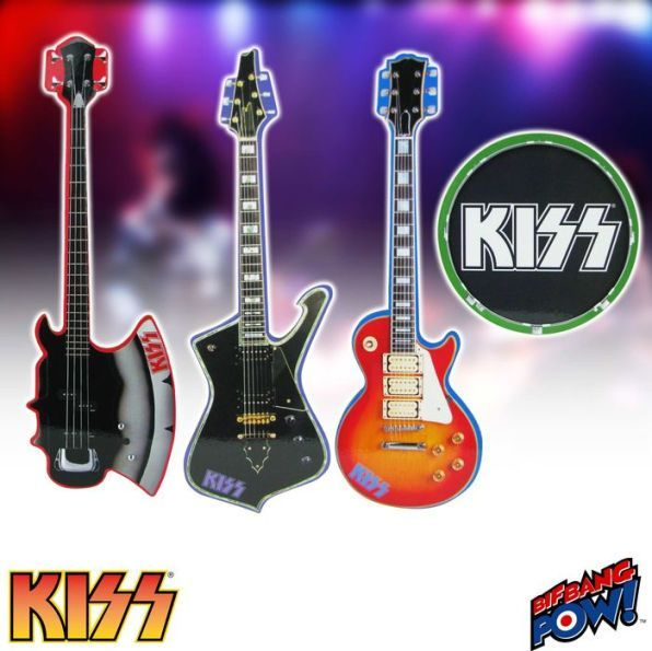 KISS Musical Instrument Shaped Coasters Set of 4