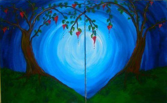 date night painting - Picture of Painting with a Twist- Sherman ...