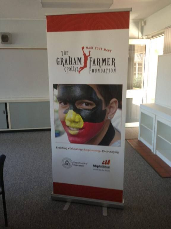 Promotional pull up banner design for the Graham Polly Farmer Foundation, by Designz by Jamz #logo #banner #design #graphicdesign #branding #creative #corporatebranding #promotional