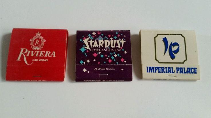 Riviera, Stardust Lido de  & Imperial Palace Las Vegas Matchbooks
