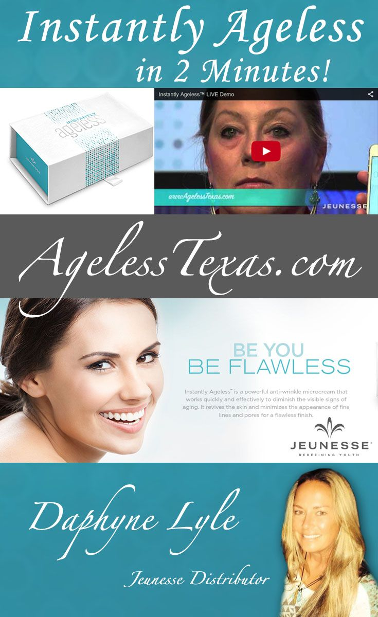 Learn How Instantly Ageless Can Help You.