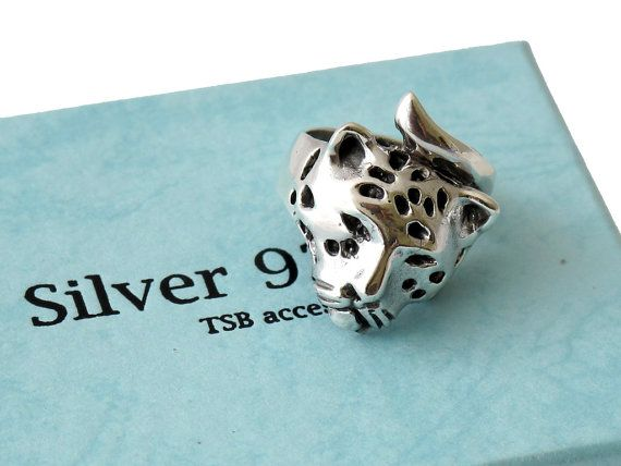 Handmade Jaguar at the Sterling Silver Rings Shop #Jaguarring #SilverJaguar #Rings  https://www.etsy.com/shop/Sterlingsilverrings