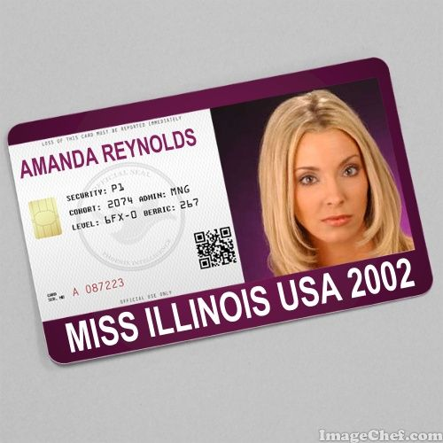 Amanda Reynolds Miss Illinois USA 2002 card