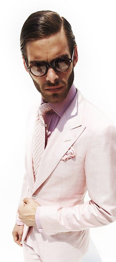 Lovin Tom Fords pinkish suit It's a beginning to look like springgg