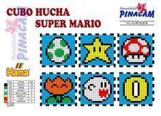Muster Hama Sparschwein Mario Bros   – Bügelperlen Spardose