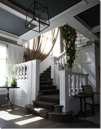 Painted ceilings... looks like you need non-standard height to pull it off.