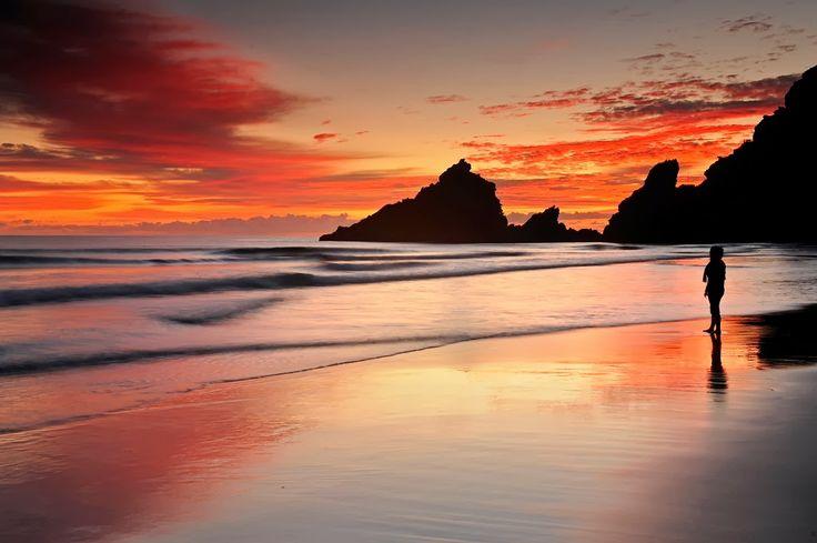 Atardecer en la Playa de los Nogales, La Palma #Canarias