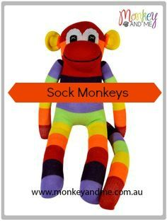 Aussie the Sock Monkey Adopt over at monkeyandme.com.au #sockmonkeys #gifts #toys #monkey #sockmonkey