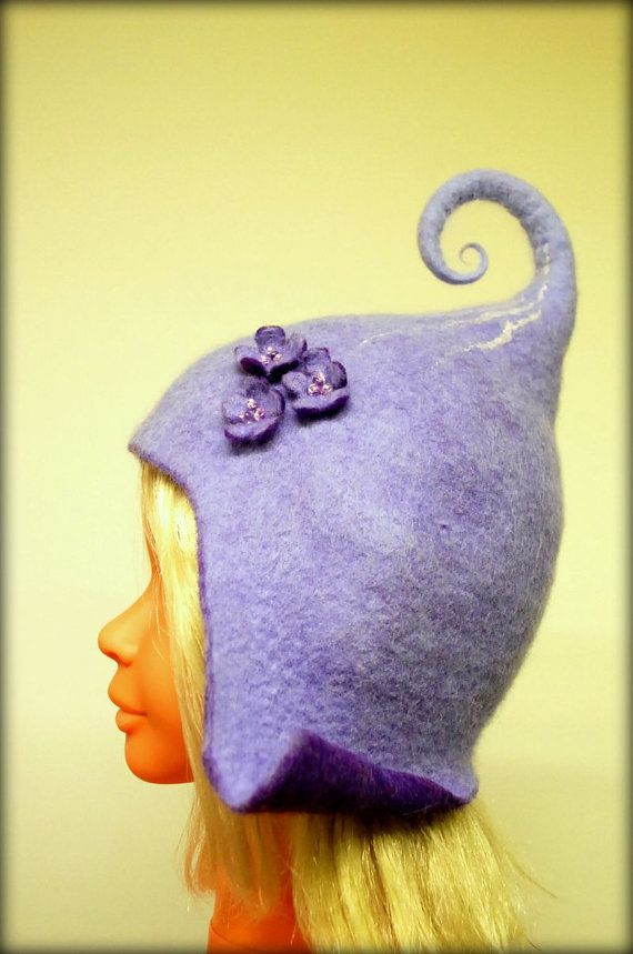 100% wool, custom made gnome hat, with or without decoration. || zavesfelt on etsy … cool stuff!