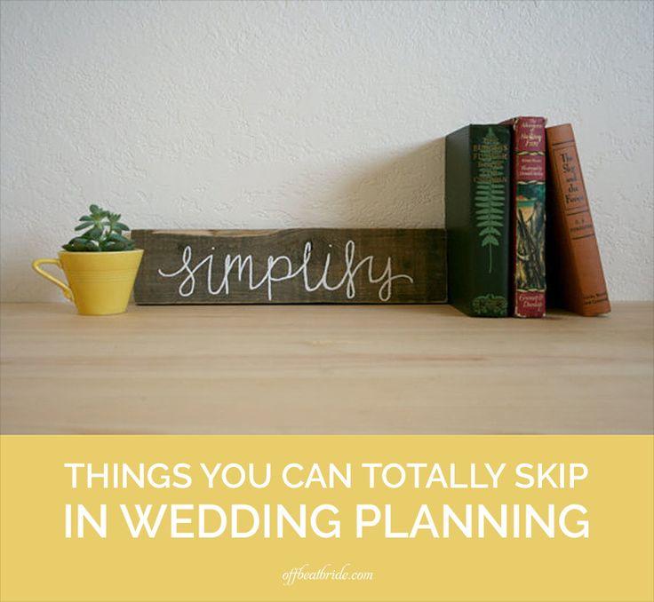 Things to skip in wedding planning on @offbeatbride