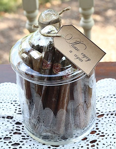 Creating a Cigar Bar.  It would be nice to have a genuine cigar roller making favors at a wedding!