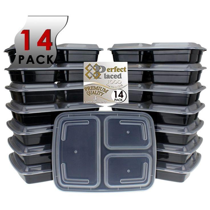 ****Promo flash d'hiver**** [pack de 14] 3 compartiments Premium No1 Meilleur Vendeur Boîte Repas Boîte Déjeuner empileable avec couvercles micro-onde, lavable au lave-vaisselle... Préparation des repas et contrôle des portions... Boîte de conservation pour Régimes... Pour enfants et adultes... Alimentation Saine 100 % sans BPA, Boîtes Repas de Perfect Placed [pack de 14], Boîtes alimentaires.: Amazon.fr: Cuisine & Maison