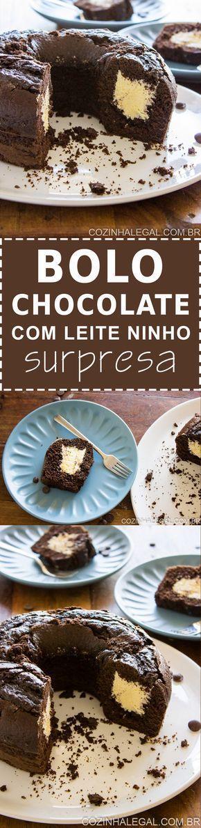 Bolo de chocolate com leite ninho é uma das combinações mais saborosas de bolo que eu conheço. Simplesmente irresistivel. Receita fácil e rápida | cozinhalegal.com.br