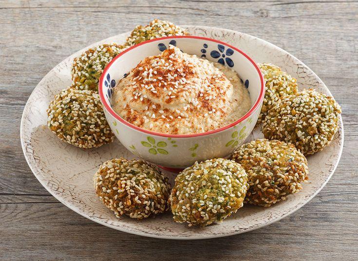 Felafel con hummus con olio di semi di sesamo Zucchi. - Oleificio Zucchi