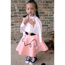 50's Girl Halloween Costume (includes really easy no-sewing instructions!)