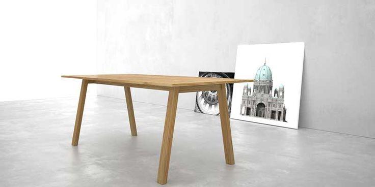 Mesa de comedor 2x4 de madera maciza