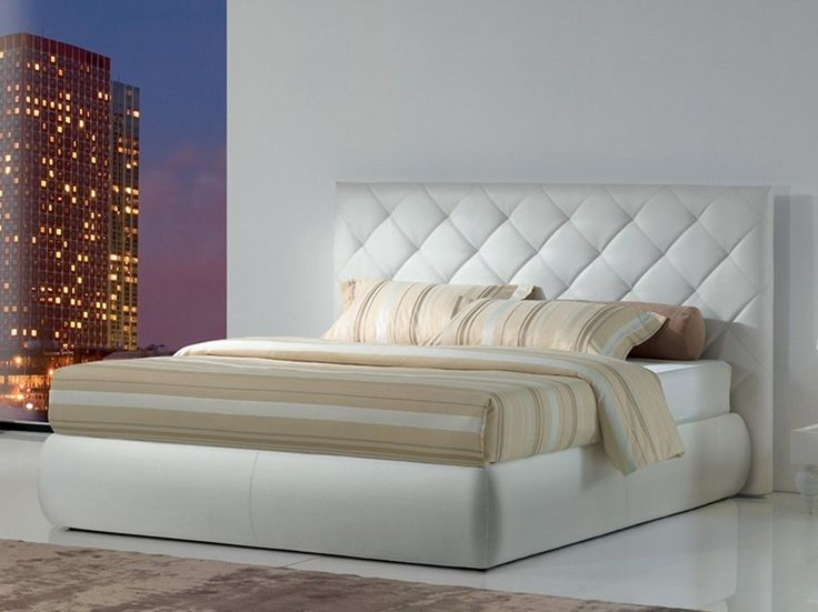 Contemporary style storage bed with upholstered headboard PREMIUM BT Premium Collection by OGGIONI & C.