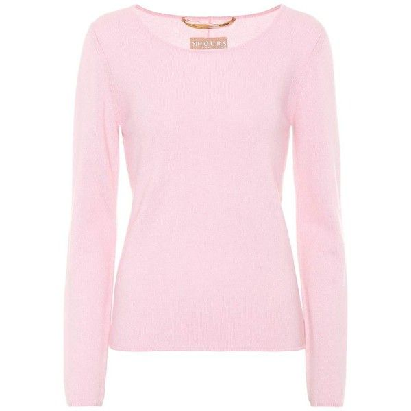 81hours Carnabi Cashmere Sweater ($240) ❤ liked on Polyvore featuring tops, sweaters, pink, pink cashmere sweater, pink top, pure cashmere sweaters, wool cashmere sweater and cashmere top