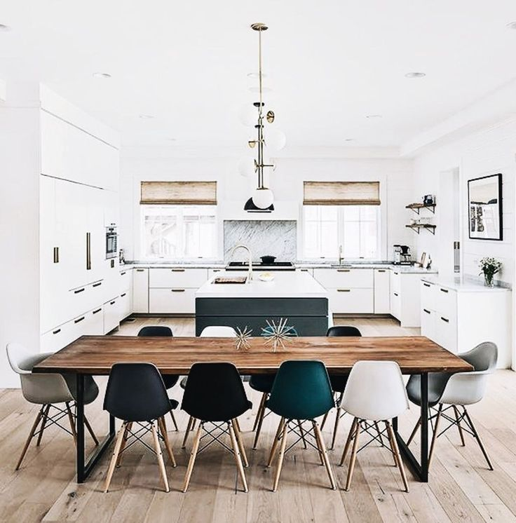 36 Stylish Open Dining Room And Kitchen Designs Ideas