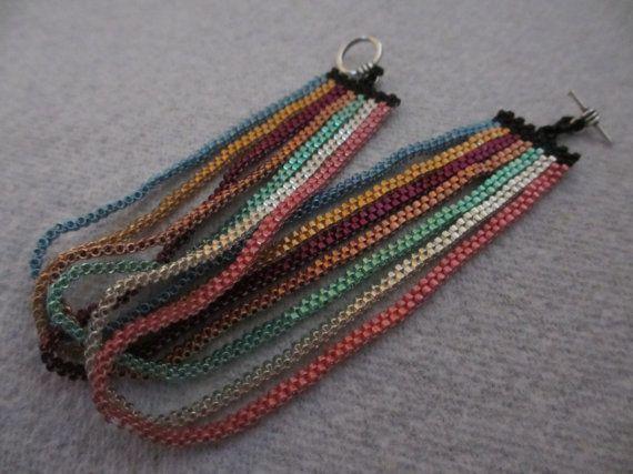 Blue, Gold, Green, Purple, Copper, Silver, Pink, Black Peyote Bracelet