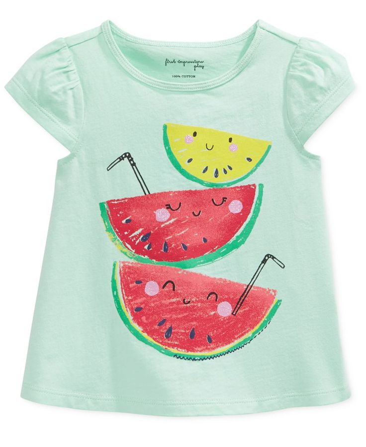 First Impressions Baby Girls/' Lace Patch Pocket T-Shirt in Glowing Pink $13.00