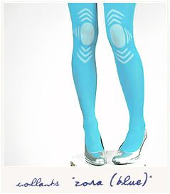 New Spring/Summer 2011 collection.  Tights Zora (blue) by Les Queues de Sardines. $60.75 #tights