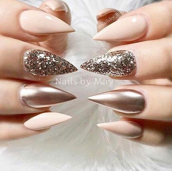Love the color but those nails are  too sharp for me