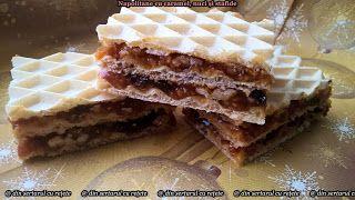 DIN SERTARUL CU REȚETE: Napolitane cu caramel, nuci și stafide