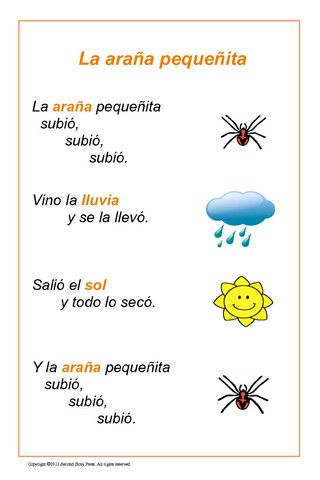 Spanish posters, Itsy Bitsy Spider, colors, verbs, clothing, good ones!