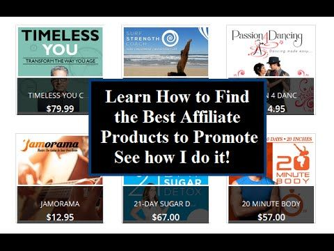 Best Affiliate Products to Promote - How to Find Them