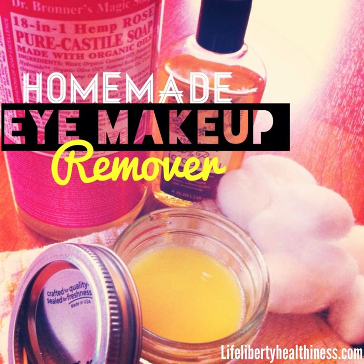 Homemade All-Natural Eye Makeup Remover!