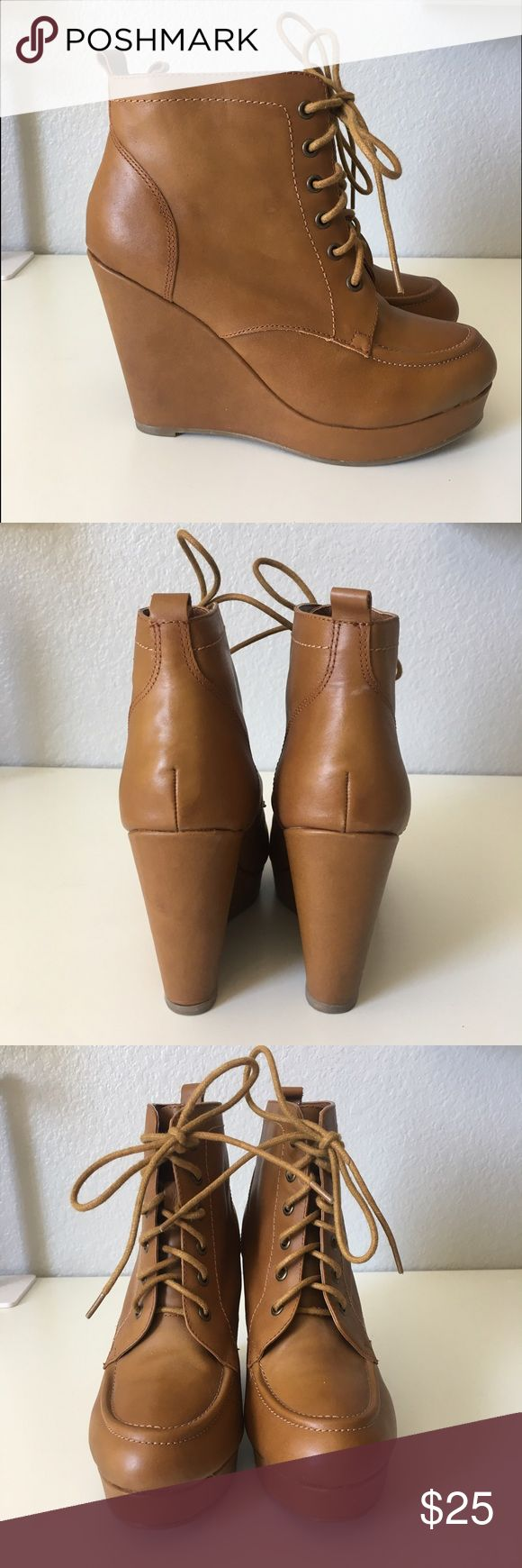 Deena & Ozzy Brown Heel Boots These are in great condition, perfect for a night out!          🌈Open To Offers🌈 🚫Sorry, No Trades🚫 💰BUNDLE FOR DISCOUNTS💰 ⚡️Fast Shipping: same day or next morning depending on what time items are purchased⚡️ 💜please leave me a comment if you have any questions or would like me to stop by and check out your closet, thank you!💜 Deena & Ozzy Shoes Heels