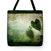 Green Modesty Tote Bag by Randi Grace Nilsberg