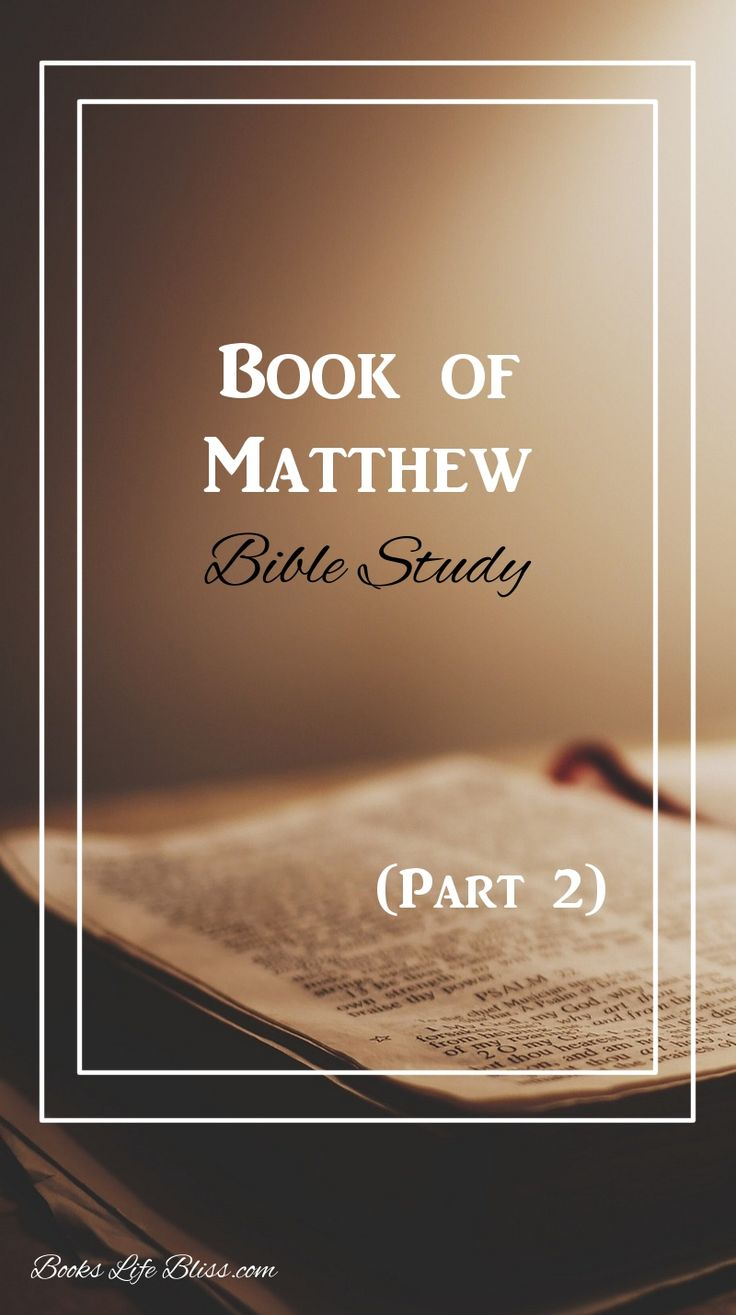 Read the second part of my book of Matthew Bible study for some great insight on Jesus' words. | www.bookslifebliss.com