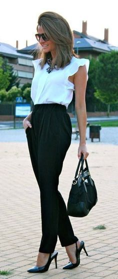 #fall #fashion / work in style black and white