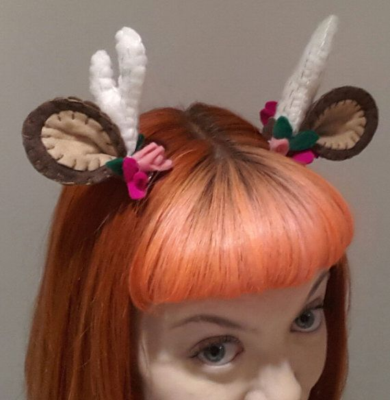 Look cute with these Deer Darling baby antler and ear hair clips. Great for an alternative to festive holiday antlers. To wear around the office