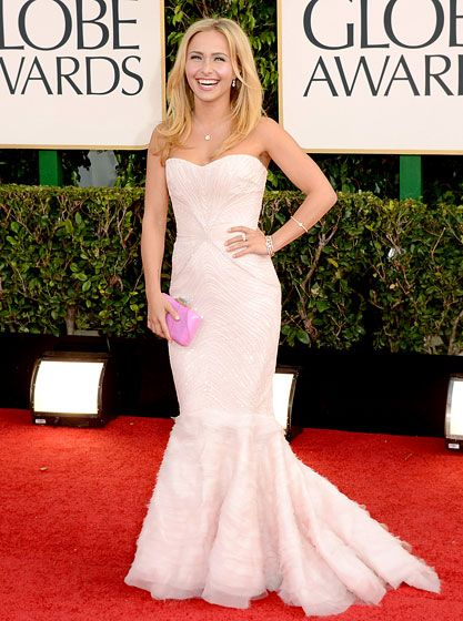 Hayden Panettiere looked ethereal in a Roberto Cavalli gown at the 2013 Golden Globes