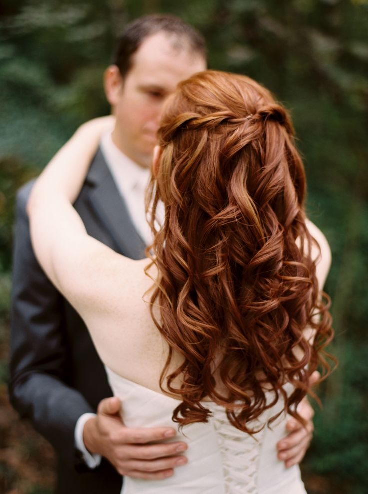 Redheaded bride. Hair by Tony Williams in Knoxville, TN.  Wedding hair