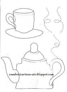 Искусство Нила - риск и царапин: Чайник, чашки и чайники