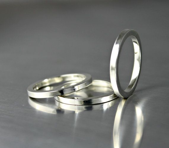 Best simple silver rings ideas on pinterest