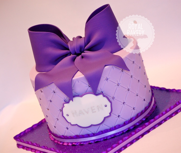 The Royal Bakery - Giant Purple Bow Quilted Cake. Original design by Torta Couture Cakes.