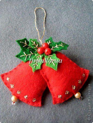 Из фетра - LOTS of neat felt ornaments and gift tags! (MVB)