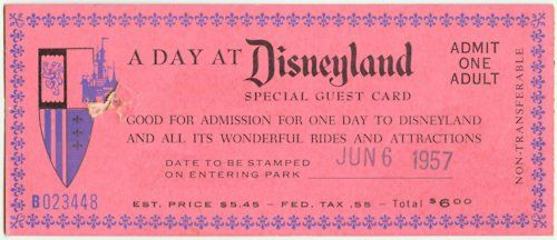 #Vintage #Disneyland Tickets - I have some from 1963-  remember 'E' ticket rides anyone?? Lol